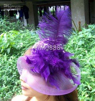 dances weddings Hair Clip ,Hat A335 purple party fascinator band