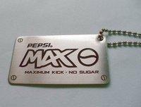 Custom metal dog tag, Aluminum dog tag, dog tag ball chain, pendant