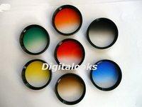 7 pcs 77mm Gradual Colour Filter w/ rotating frame
