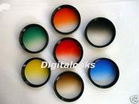 7 pcs 55mm Gradual Colour Filter w/ rotating frame