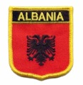 client's design are welcome,ALBANIA flag patch,merrow border edge,100pcs/plastic bag, PVC backing,guarantee100%,fee shipping