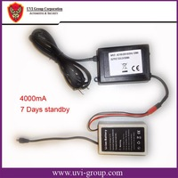 China Post Free Shipping 2 pcs/lot Rechargeable Li-ion Battery for Cargo GPS Tracker with 7 day standby, 3.7V, 4000mA