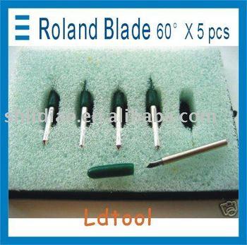 5x 60* ROLAND BLADE CRICUT GCC VINYL CUTTER PLOTTER BLADE