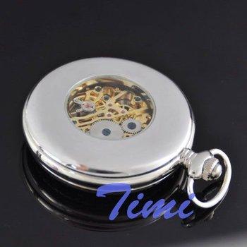 wholesale 2011 Cool Unique dragon Mens Rare Mechanical Pocket Watch freeship