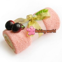 Free shipping + 100pcs/lot Cute Towel shower cake for Wedding Party Favor Baby Shower