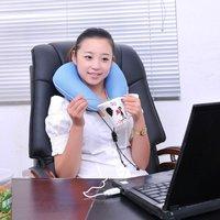 EMS Free Shipping 2pcs U Shaped Electric Massage Pillow/ USB Bamboo Charcoal Electric Massage Pillow/ Neck Massager