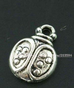 Free shipping tibet silver ladybug charm pendant
