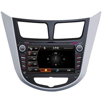 hyundai Verna car dvd player with auto gps navigation radio system