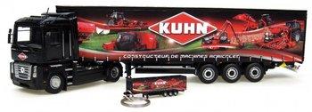 """UH-5689  Set Renault Magnum + Kronetrailer """"Kuhn"""" & Keyring trailer """"Kuhn"""