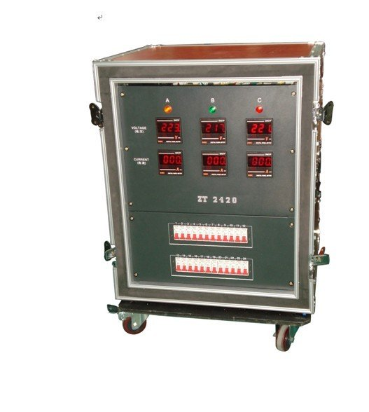 24CH waterproof stage power supply mobile cabinet/power supplier box/stage DC cabinet /LED light/DJ light/DMX cootroller(China (Mainland))
