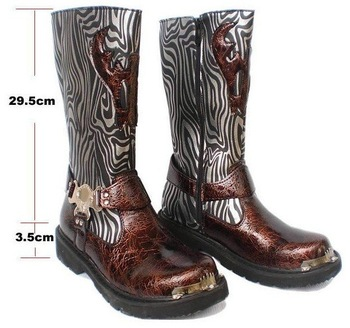 brand new men's short boot leather boots cone male cotton man outdoor cow boy boots free shipping