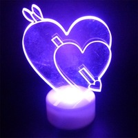 20pcs/lot freeshipping hot sale 7colors Christmas Cupid love decoration shinning flashlight christmas gift !