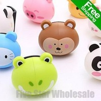 For Promotion/Free Shipping/Accept Credit Card/Many Colors/New Novelty Cartoon Animal Toothbrush Holder