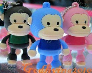 4GB USB Monkey Flash Memory USB2.0 Pen Stick Drive 4G Free shipping Christmas promotion