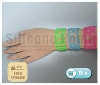 New product!! Tatoo bracelets tattoo bracelet 100% silicone wristband bands  400set/lot