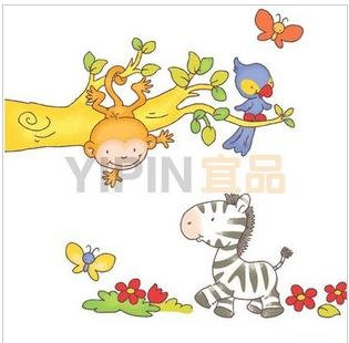 Kid's Room Stickers,zebra, Furniture Decals,vinyl wall stickers.10pcs/lot,free ship