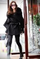 Free shipping-Real fox fur collar women's long coat clothes 6695