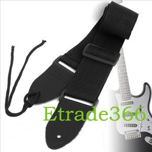 200pcs/lots Black Nylon Strap for Acoustic Electric Guitar Bass Free shipping High quality 100%new(China (Mainland))