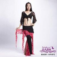 Belly Dance 2pcs Set of Lace Top & 08# Lace skirt Pants