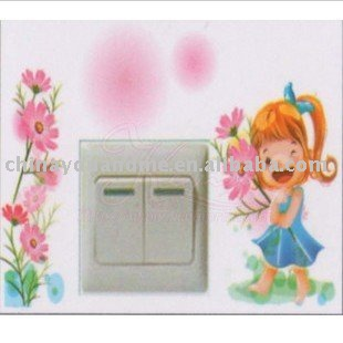 200pcs Fashion Wall stickers , Light Switch sticker switch decoration  for home decoration GA035