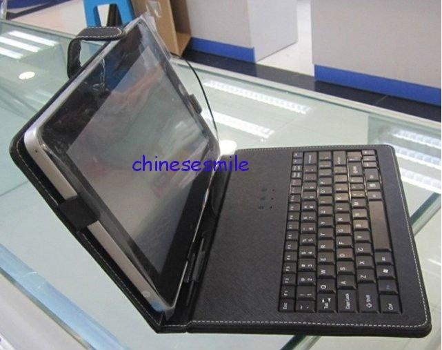 "Free shipping!!! Leather Case With Bracket Keyboard For 7""Apad Epad iRobot(China (Mainland))"