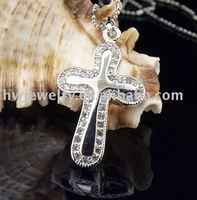 elegant cross pendant, silver jewelry,christmas best gift, HWPE13518