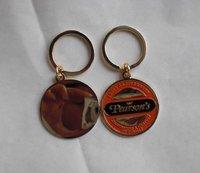 High polish keychain, round keyring, custom as your design