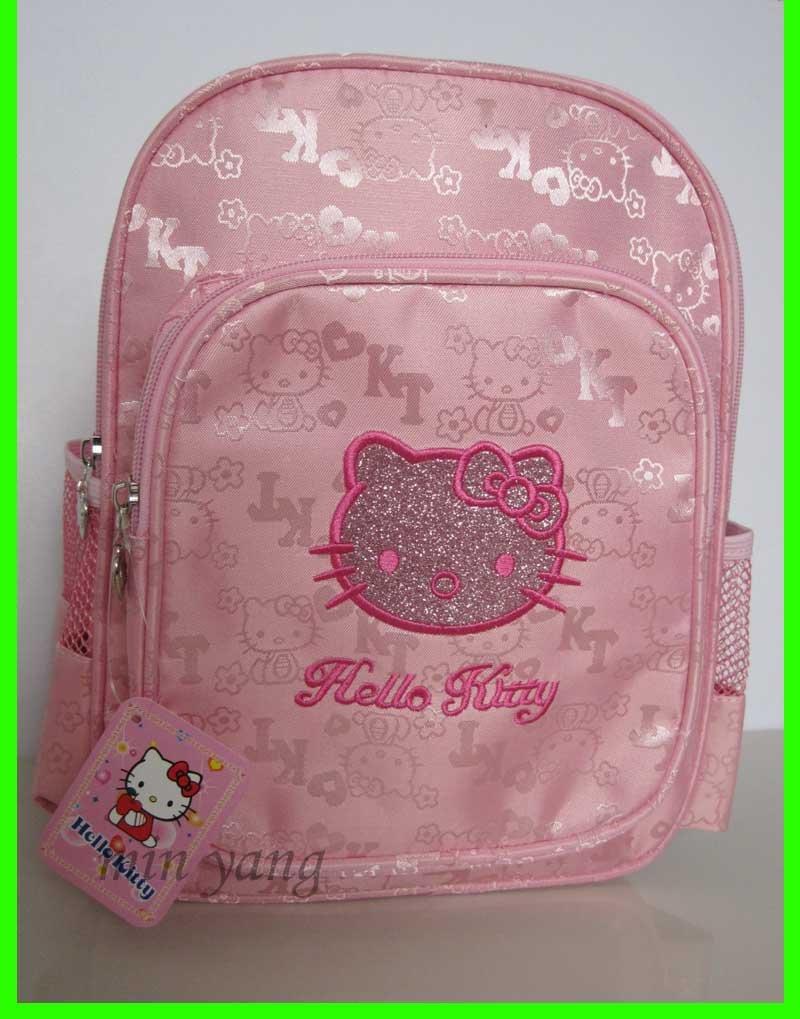 1 PCS-de-rosa cor Olá Kitty Mochila Mochila Pequeno Schoolbag HOT SELL!(China (Mainland))