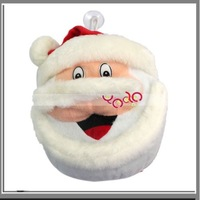 Free Shipping From USA+20-disc Lovely Santa Claus Doll CD Storage Case Bag/Christmas Santa Holder-J03280