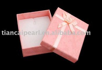 Rectangle bowknot pink bracelet box 7*9cm