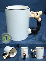 JETYOUNG Animal Coated Mug for Sublimation Ink or Heat Transfer -RAT MUG, photo mug, special gift, 36pc/pack DIY gift