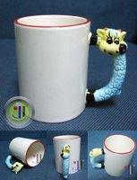 JETYOUNG Animal Coated Mug for Sublimation Ink or Heat Transfer -SHEEP MUG, photo mug, special gift, 36pc/pack DIY gift