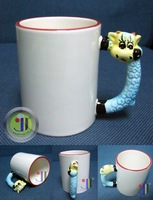 JETYOUNG Animal Coated Mug for Sublimation Ink or Heat Transfer -SHEEP MUG, photo mug, special gift, 36pc/pack DIY gift