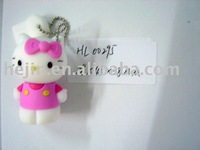 wholesale free shipping of cute 3d design & 2GB capacity USB flash drive