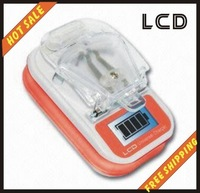 Free shipping--LCD Shining Mobile Cell Phone Li-ion Battery Universal Charger