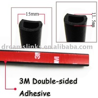 New 10M Car Door Trunk AUTO SEAL Weatherstrip Seal With 3M Double-sided Adhesive DIY KIT D-Shape EPDM 15*11.5 (mm) Free Shipping