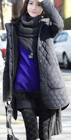 Wholesale Quilted jacket,quilted coat,Two-piece single-breasted quilted coat,gray,black&Free shipping