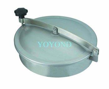 Sanitary Stainless Steel Normal Pressure Manhole Cover Manway Round Manhole Elliptic Manhole