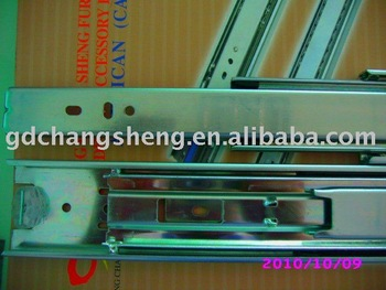 hot sale top quality 45mm 3-fold #3045 full extension ball bearing telescopic drawer slider