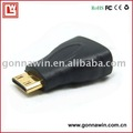 Free shipping/Mini HDMI Adapter/Mini HDMI F TO HDMI M Converter/Mini HDMI Converter/HDMI Converter