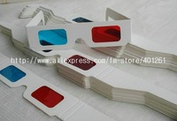 Free Shipping 100pcs/lot 3D Anaglyph Movie DVD Glasses Paper 3D movie glasses