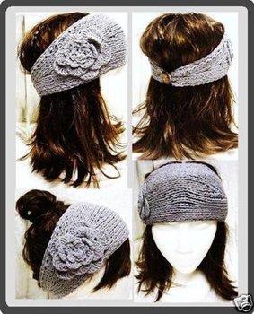 Handmade knit winter Headband Flower headwrap ear band 2010 style +Free shipping  EMS