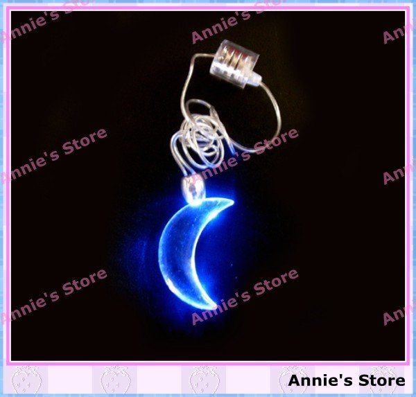 Free shipping! NOVELTY Flash LED necklace, lamp, light, decorations, reception, wedding party, christmas, festival,gift, MOON(China (Mainland))