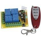 DC 12V Wireless Remote Control Switch Module & 4 Button Car Wireless Remote Control AK-RK04S-12+AK-JF04