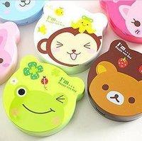 100pcs/lot color contact lens case/color cute contact lens case /cartoon glasses Box