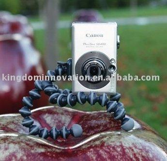 50pcs/lot free shipping!Christmas promotion-S size-Octopus camera tripod,flexible&multi-angle shoot-S size,plastic bag packed