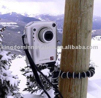 50pcs/lot free shipping!Christmas promotion-Digital Camera mini Tripod Gorilla pod Flexible Octopus-S size