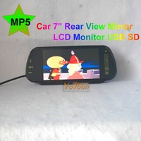 "YOTOON Free Shipping-- 7 inch Rear View Mirror LCD MP5 Monitor USB / SD / MP5   7"" MP5 Monitor"