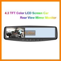 "Free Shipping + 4.3"" TFT Color LCD Screen / Car Rear View Mirror Monitor"