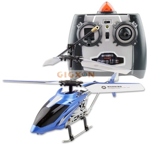 New Blue Metal Bulit-in Gyroscope 3CH RC Helicopter U807(Hong Kong)